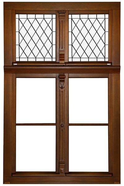 okno z kratownicą kutą - ozdobą